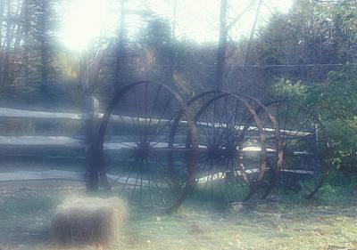 Photograph - New Hampshire Wagon Wheels Dreamscape by John Clark