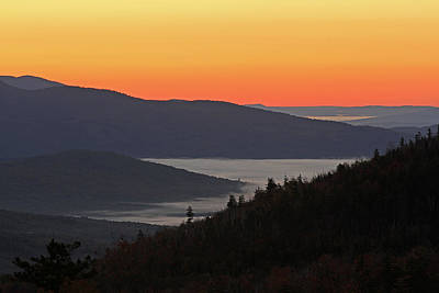 Photograph - New Hampshire White Mountains Sunrise by Juergen Roth
