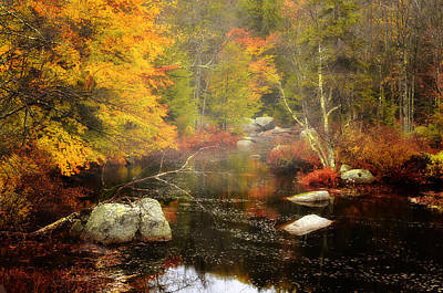 New Hampshire Wilderness-autumn Scenic Art Print by Thomas Schoeller