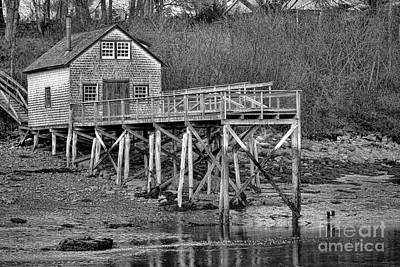 Processing Photograph - New Harbor Fishing Shack by Olivier Le Queinec