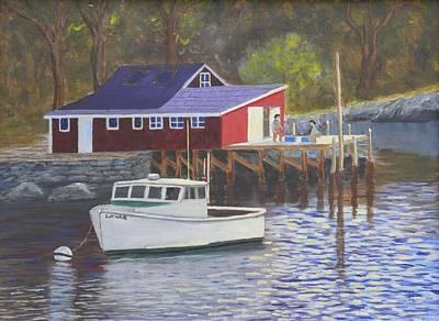 New Harbor Sunrise Art Print