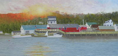 Painting - New Harbor Sunset by Scott W White