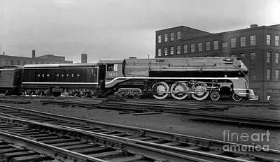 Photograph - New Haven 1403 Streamlined Express Locomotive by Wernher Krutein
