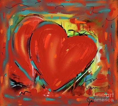 Digital Art - New Heart by Jeanie Watson