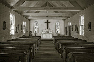 Photograph - New Hope Chapel Retro by Andy Crawford
