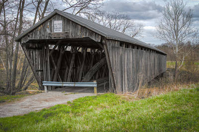 Music Royalty-Free and Rights-Managed Images - New Hope Covered Bridge  by Jack R Perry