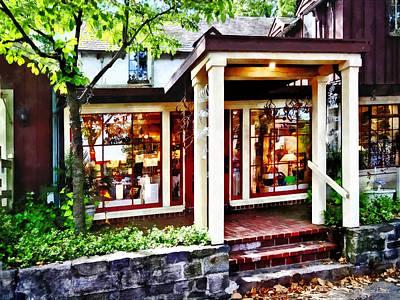 Lamp Photograph - New Hope Pa - Craft Shop by Susan Savad