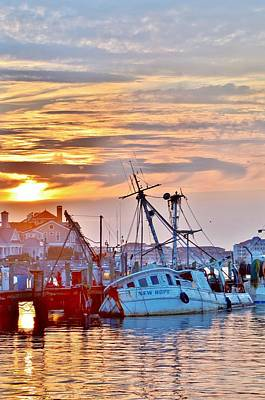 Photograph - New Hope Sunrise - Sunken Ship At West Ocean City Harbor by Kim Bemis