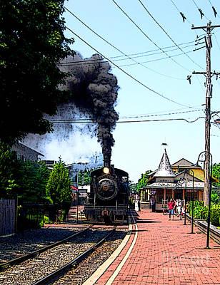 Solebury Photograph - New Hope Train Station II by Addie Hocynec