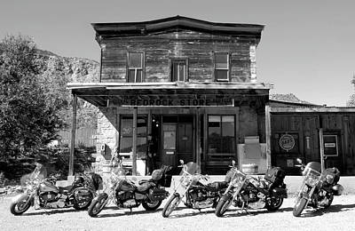 Motorcycle Wall Art - Photograph - New Horses At Bedrock by David Lee Thompson