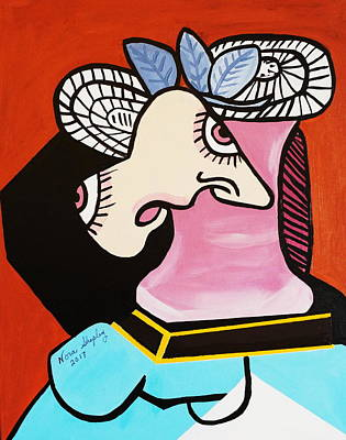 Painting - New I Lost My Head  Picasso by Nora Shepley