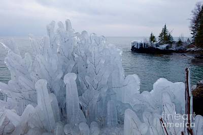 New Ice On Lake Superior Art Print by Sandra Updyke