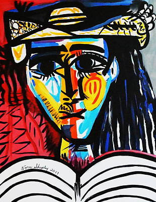 Painting - New  Indian  2 Picasso by Nora Shepley