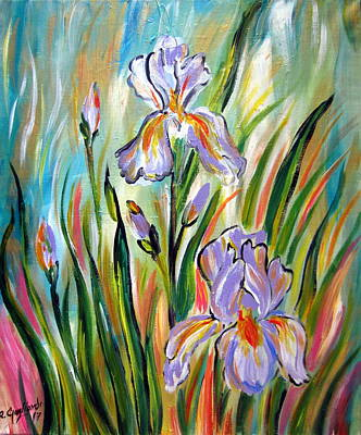 Painting - New Irises by Roberto Gagliardi
