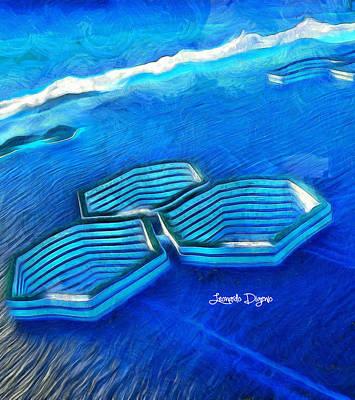 Forms Digital Art - New Islands - Da by Leonardo Digenio