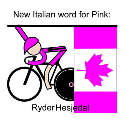 New Italian Word For Pink Art Print by Asbjorn Lonvig