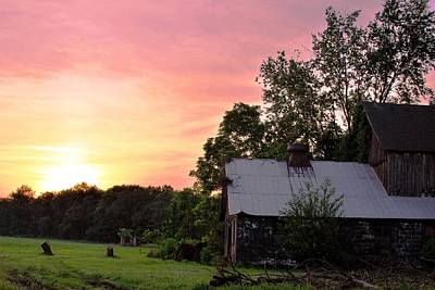 Photograph - New Jersey Barn Sunset by Matt Harang