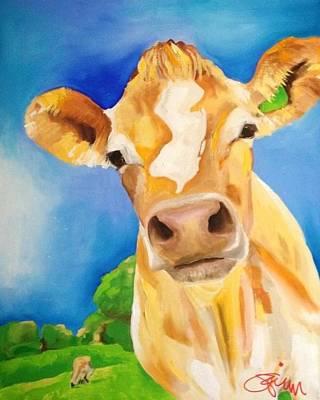 New Jersey Cow Art Print