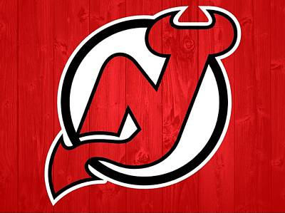 New Jersey Devils Barn Door Art Print