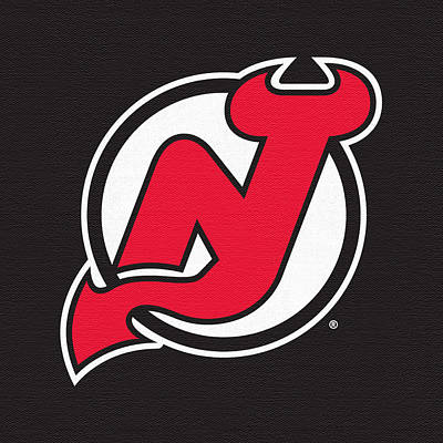 New Jersey Devils Wall Art - Digital Art - New Jersey Devils Dark by Game On Images