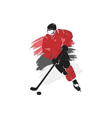 New Jersey Devils Wall Art - Photograph - New Jersey Devils Player Shirt by Joe Hamilton