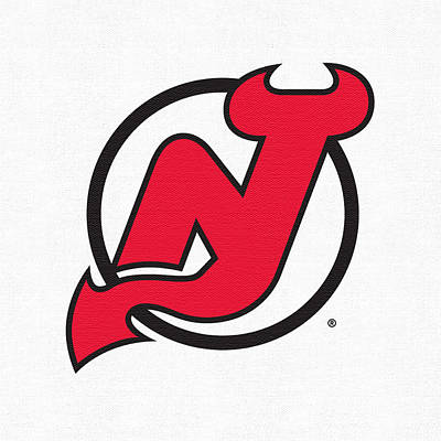 New Jersey Devils Wall Art - Digital Art - New Jersey Devils White by Game On Images