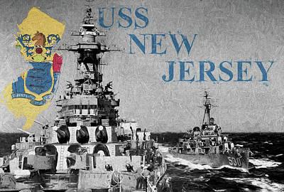 Nj Digital Art - New Jersey by JC Findley