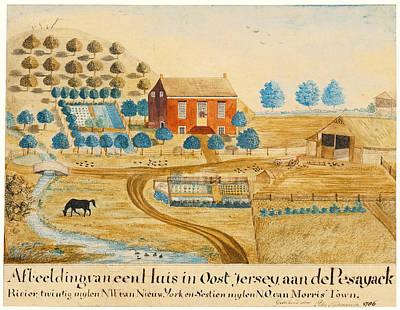 Drawing - New Jersey Landscape by Peter Oudenaarde