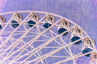 Photograph - Ferris Wheel Series 2 Purple by Marianne Campolongo