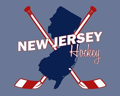 New Jersey State Hockey Art Print by Summer Myers