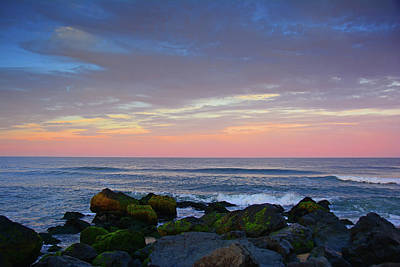 Photograph - New Jersey Sunset Rocks 2 by Raymond Salani III