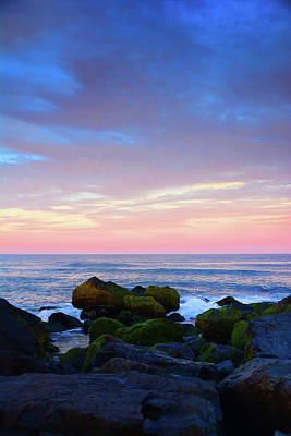 Photograph - New Jersey Sunset Rocks by Raymond Salani III