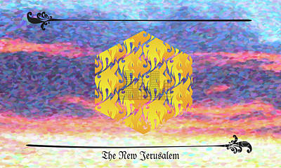 Digital Art - New Jerusalem by Donna L Munro