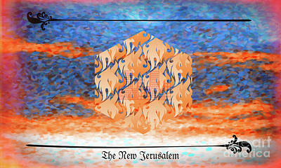 Digital Art - New Jerusalem Orange by Donna L Munro