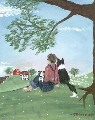 New Kid In Town Art Print by Sue Ann Thornton