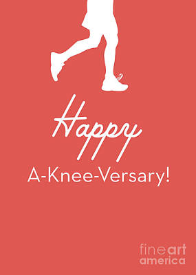 New Knee Card- Art By Linda Woods Art Print by Linda Woods