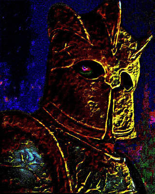 Walker Digital Art Photograph - New Knight Of The King's Guard. Mask. by Andy Za