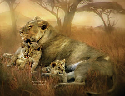New Life Art Print by Carol Cavalaris
