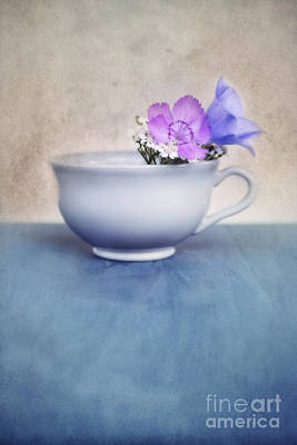 Floral Still Life Photograph - New Life For An Old Coffee Cup by Priska Wettstein