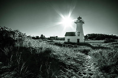 Photograph - New London Light Behind Dunes by Chris Bordeleau