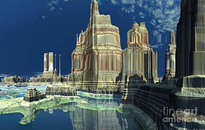 Mayan Mixed Media - New Mayan World  by Heinz G Mielke