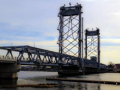 Photograph - New Memorial Bridge Over The Piscataqua River by Mark Alesse