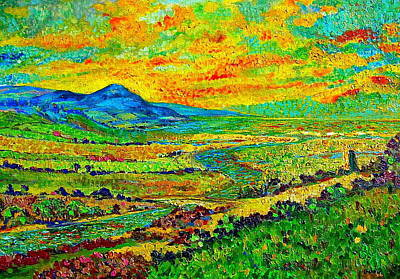 Mountain Valley Painting - New Mexican Sunset by Michael Durst