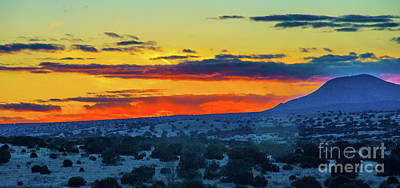 Photograph - New Mexican Sunset by Steve Whalen