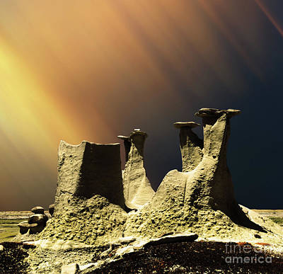 Photograph - Ah-shi-sle-pah Rock Formation New Mexico  by Bob Christopher