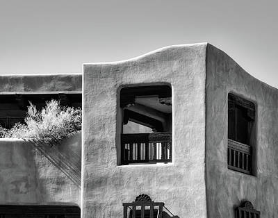 Photograph - New Mexico Architecture In Bw by James Barber