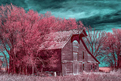 Farm Scene Photograph - New Mexico Barn Infrared by Paul Freidlund
