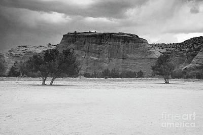 Photograph - New Mexico Black And White Jemez Mountains Landscape by Andrea Hazel Ihlefeld