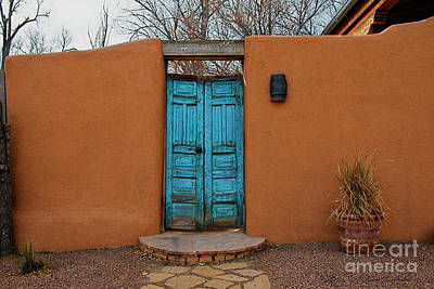 Photograph - New Mexico Blue Doors by David Arment