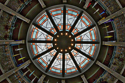Photograph - New Mexico Capitol Skylight by Stuart Litoff